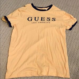 Yellow and navy blue GUESS tshirt